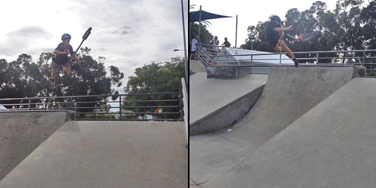 freestyle now - leederville skatepark scooter competition april 2016
