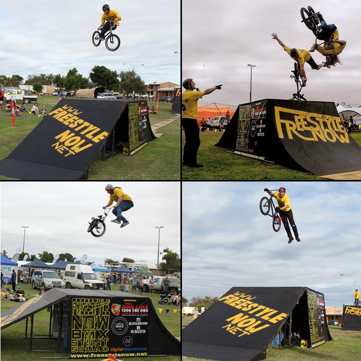 Freestyle Now bmx stunt show - Carnarvon Tropicool Festival June 2016