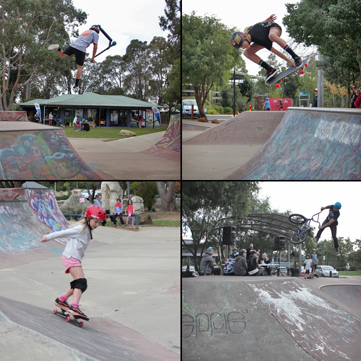 freestyle now - Margaret river skatepark bmx skateboard scooter competition May 2016