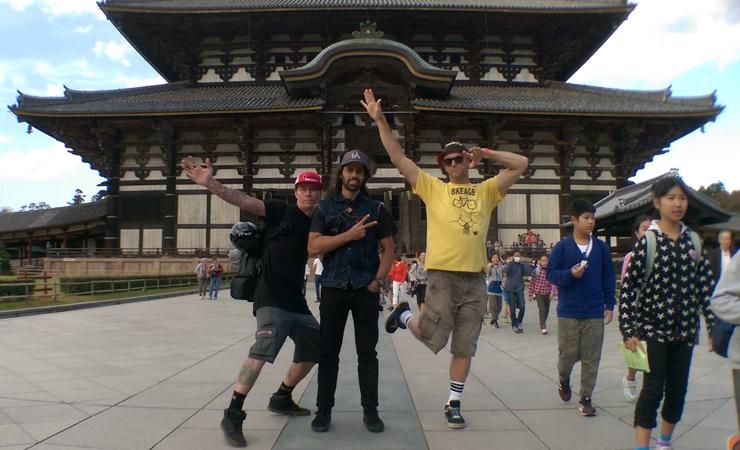 Paul Chamberlain Shaun Jarvis Lee Kirkman at Nara in Japan 2015 - freestyle now bmx flatland