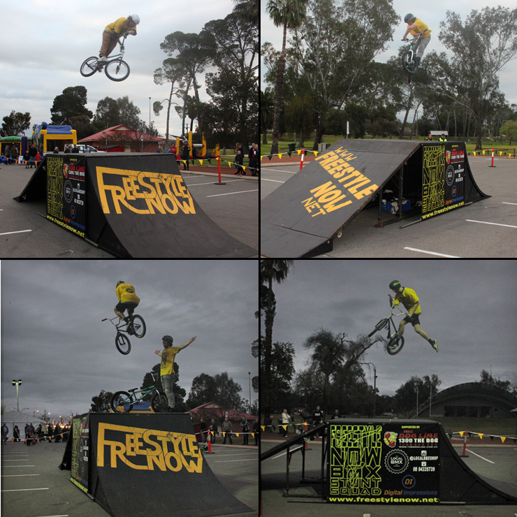 Freestyle Now bmx stunt show - Northam Avon decent festival August 2016