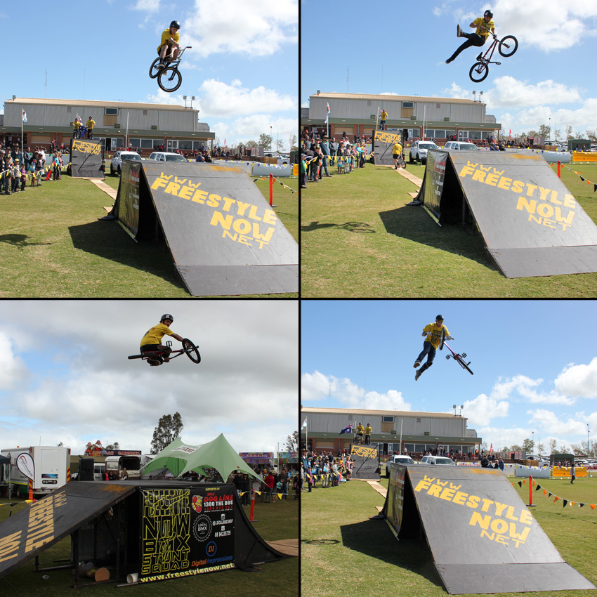 Freestyle Now bmx stunt show - Mullewa Agricultural show August 2016