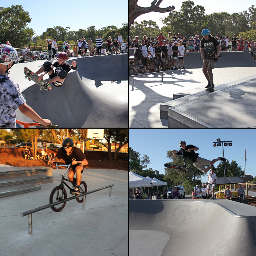Freestylew Now Wanneroo skatepark competition January 2017 bmx skateboard scooter competition