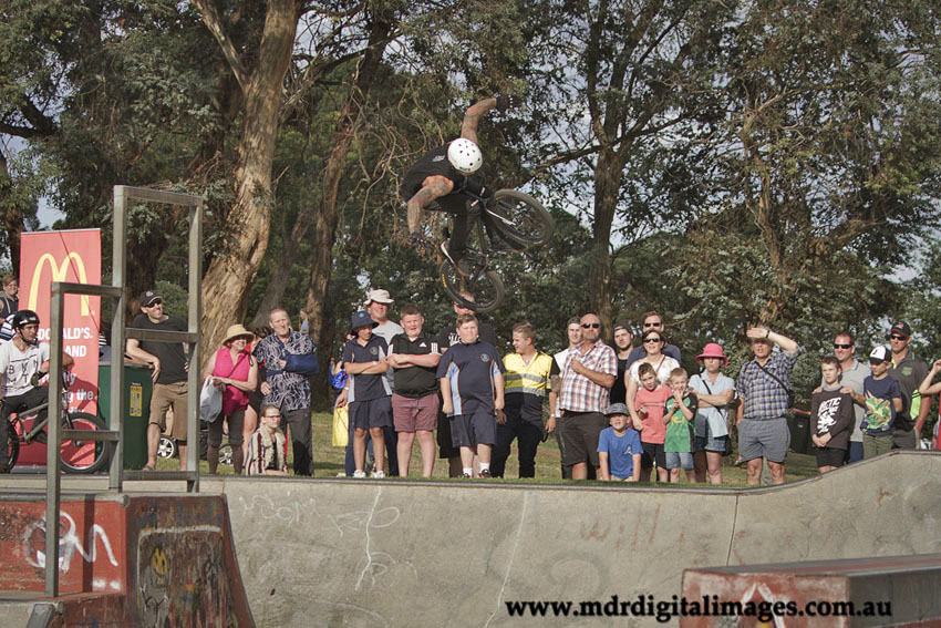 Daniel Lochki 1st bmx open Drouin skatepark competition february 2017 - photo Michael Robinson photography