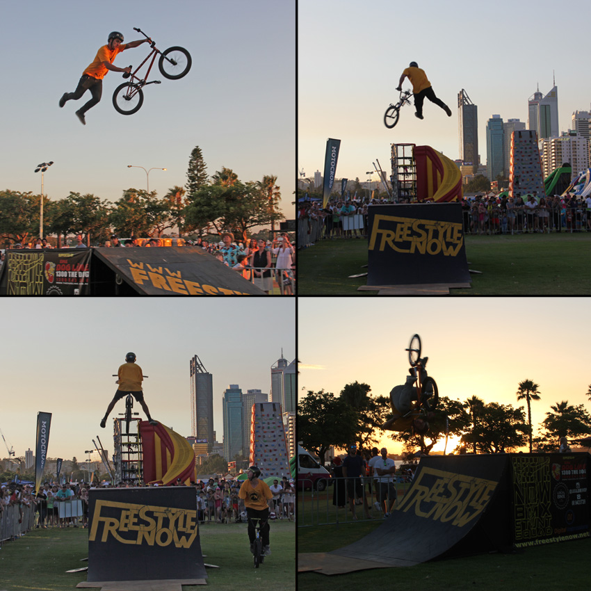 Freestyle Now bmx stunt show - Australia Day Perth Esplanade