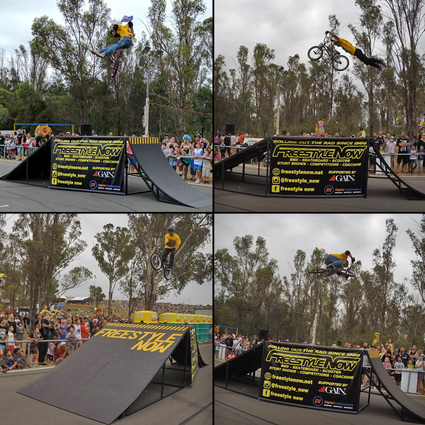 Freestyle Now bmx stunt show - Rooty Hill Australia Day 2017