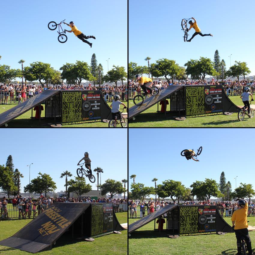 Freestyle Now bmx stunt show - 2 Perth Sky show 2018